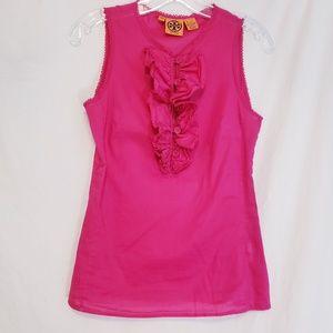 Tori burch pink cotton blouse